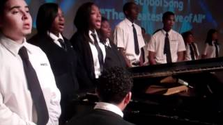 Gompers Preparatory Academy Students Sing Their School Song - Whitney Houston