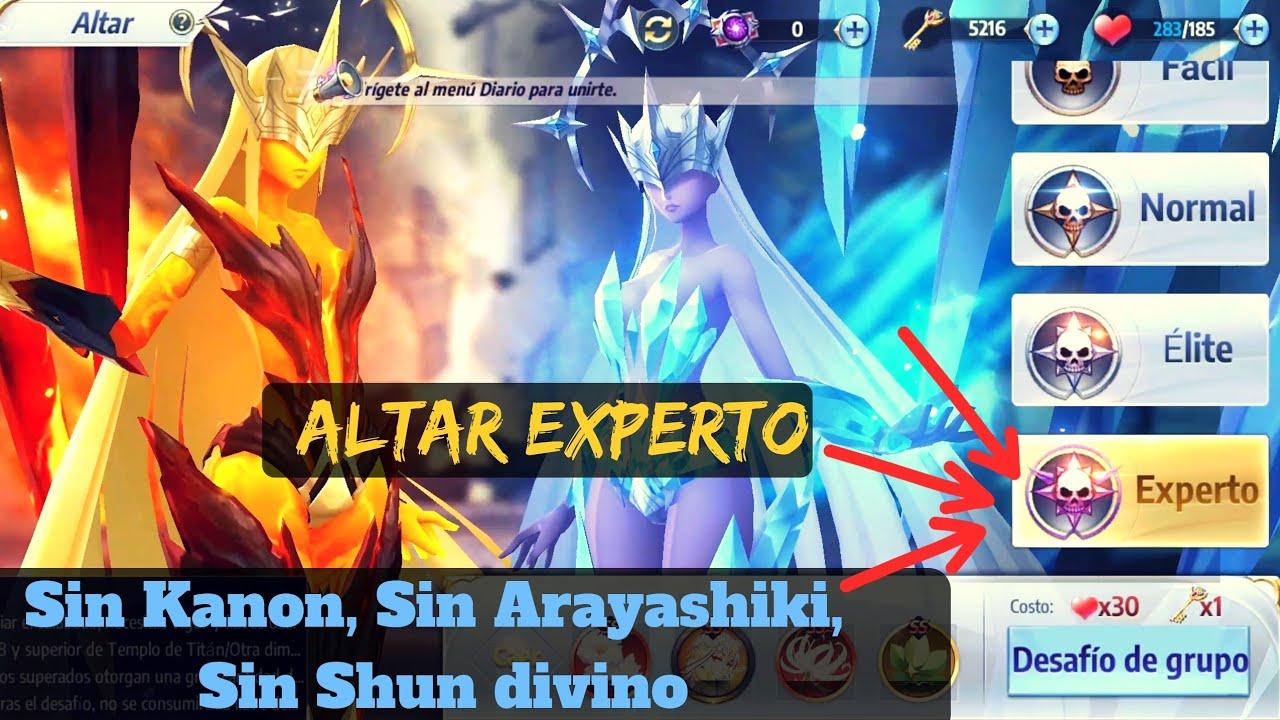 Guía de como pasar ALTAR ELITE, sin Arayashiki, sin Kanon, sin Shun divino, Saint Seiya Awakening