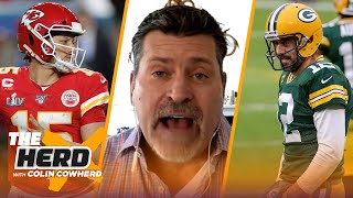 Rodgers Packers & Mahomes Chiefs picked to win NFC & AFC Championships — Schlereth | NFL | THE HERD