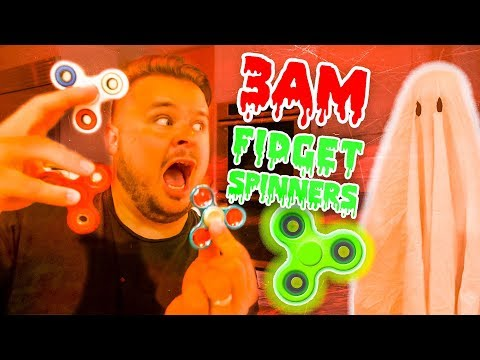 DO NOT SPIN 10 FIDGET SPINNERS AT 3AM! 3AM Challenge Prank Gone Wrong!