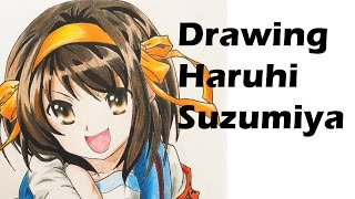 Drawing Haruhi Suzumiya