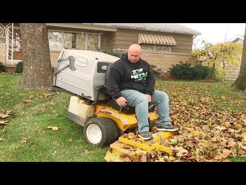 Fall Leaf Cleanup, Bagging or Mulching, Old Style Lawn Care Vlog