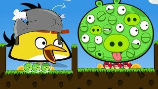 Angry Birds Cannon 3 - HUGE MAD CHUCK FORCE OUT GIANT 100 EYES PIG RESCUE GIRLFRIEND!