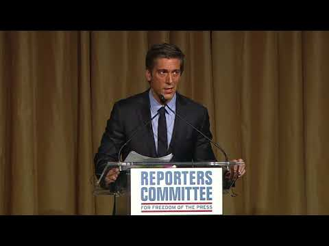 David Muir opens 2018 Freedom of the Press Awards