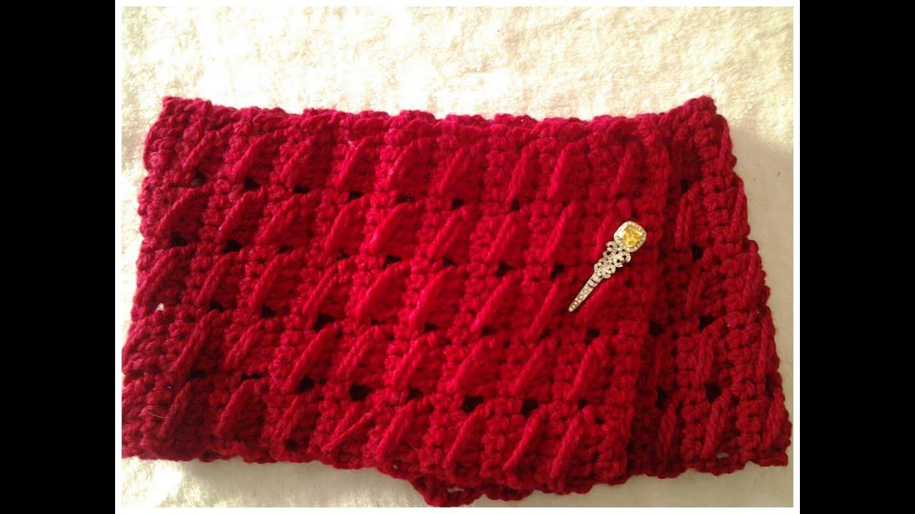 Bufanda muy f cil a crochet tutorial diy youtube for Cosas de ganchillo faciles