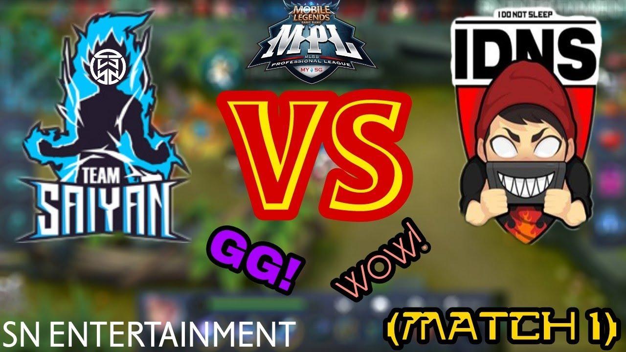 (MUST WATCH!) TEAM SAIYAN VS IDNS SG (MATCH 1) | MPL MY SG WEEK 7 [Mobile  Legends]