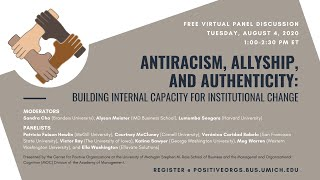 Antiracism, Allyship, and Authenticity: Building Internal Capacity for Institutional Change
