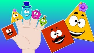 KBC | Shapes Finger Family | shapes song | nursery rhymes for kids | learn shapes