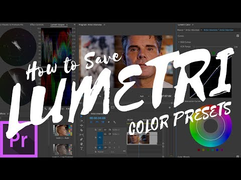 Create Lumetri Color