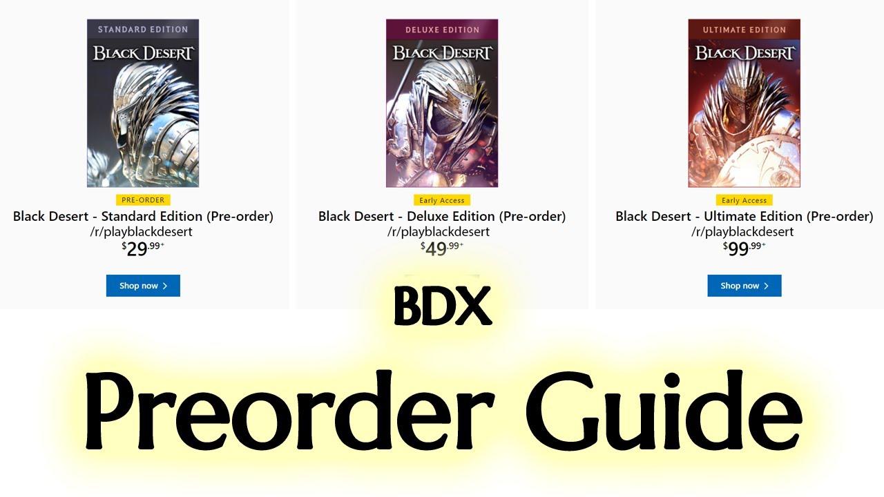 BDX Preorder Guide | Black Desert Xbox