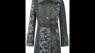 Пальто комбинированное.