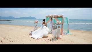 Свадьба мечты в Таиланде, свадебная фотосессия на берегу в Тайланде