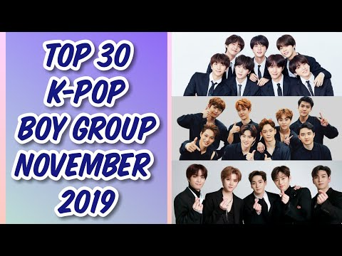 Top 30 K-Pop Boy Group Brand Reputation Rankings for Novembe