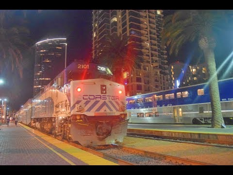 4-13,14-18!! Railfanning Oceanside, SD, Poinsettia! Amtrak, Coaster, Metrolink, BNSF ACTION!!
