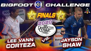 FINALS: Lee Vann CORTEZA vs Jayson SHAW: 2020 Derby City Classic Bigfoot 10-Ball Division