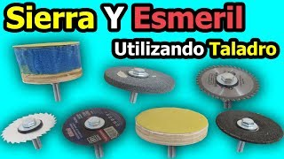 Sierra Y Esmeril Utilizando Taladro | Como Hacer Accesorios Caseros Para Taladro thumbnail