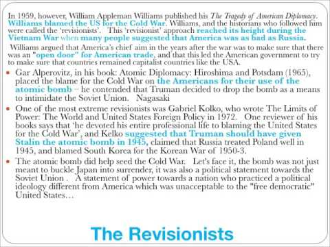Who was to blame for the Cold War? Flipped Lesson on Historiography for GCSE