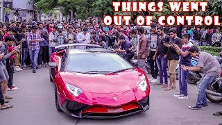 Millionaire arrives in ₹10 Crore Lamborghini & This happened | Reactions!!