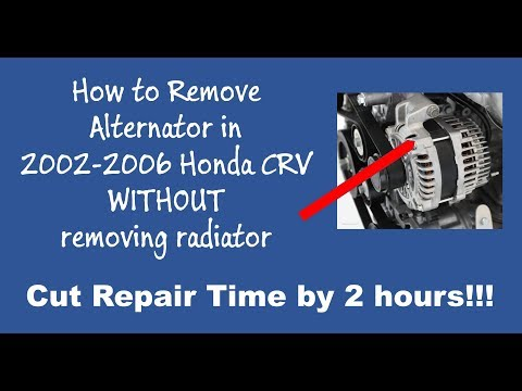 How to Remove 2005 Honda CRV Alternator Without Removing Radiator (Part 1)
