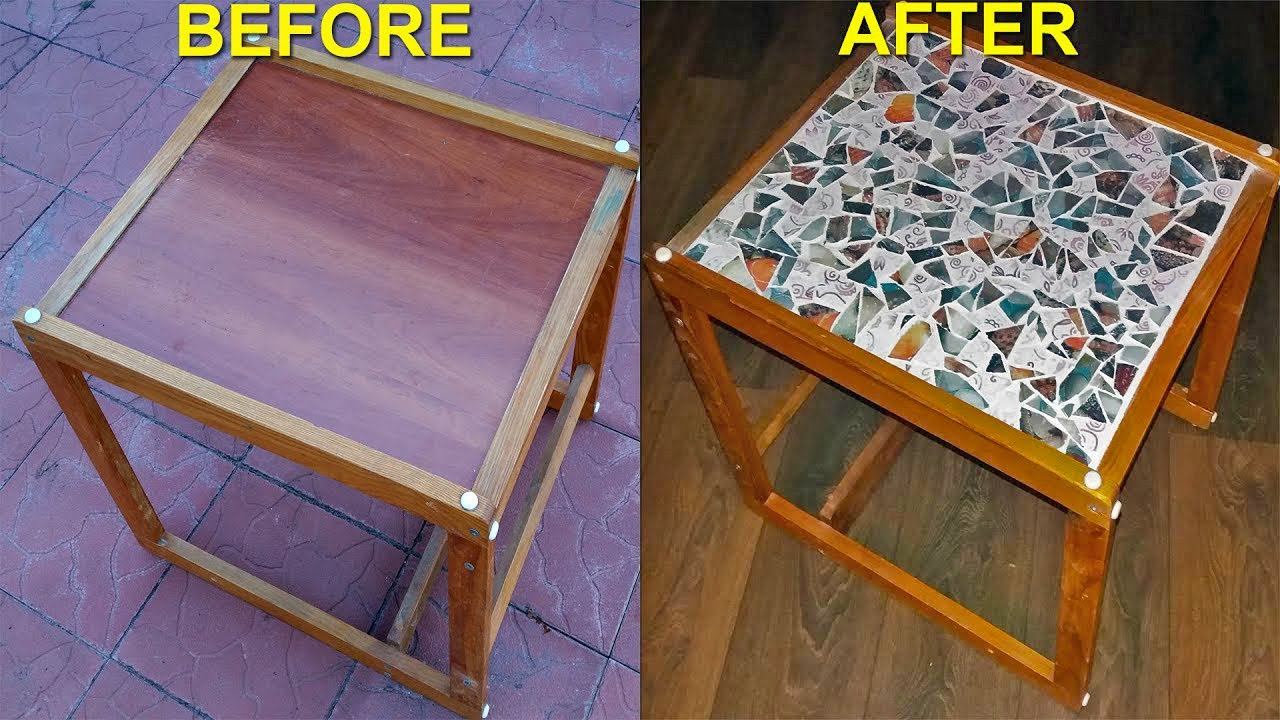 DIY Mosaic Coffee Table - YouTube