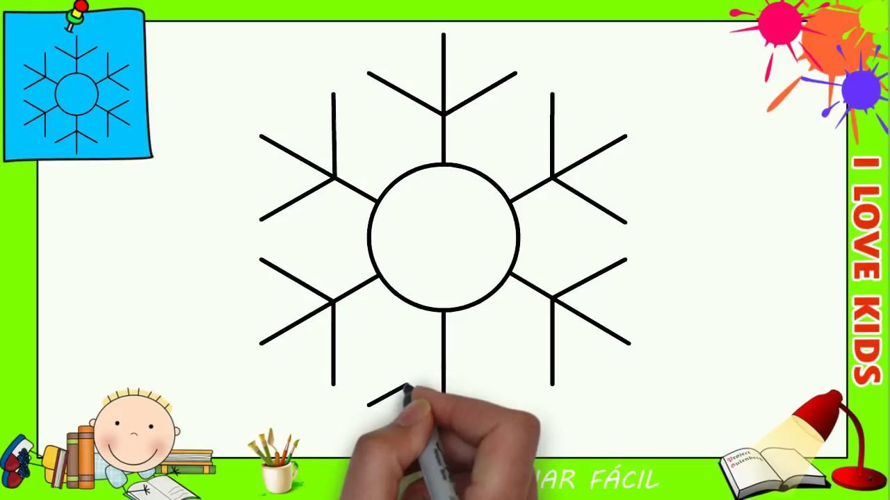 Como Desenhar Um Floco De Neve De Nata Facil Passo A Passo Para