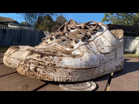 How to Clean Muddy White Air Force Ones