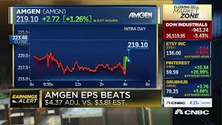 Amgen beats EPS and revenue, $6.42B vs. $6.38B, raises full-year guidance