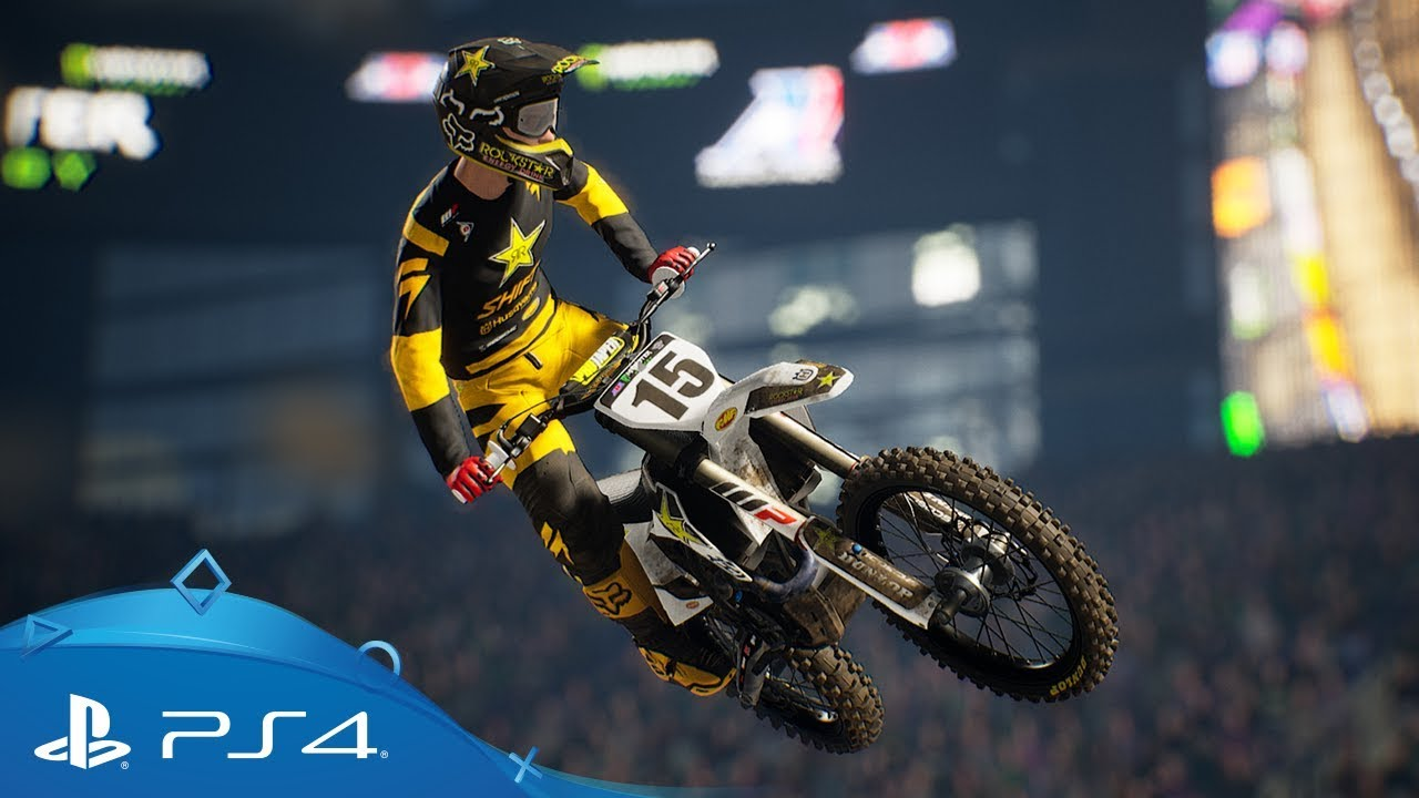 monster energy supercross 2 first full gameplay ps4. Black Bedroom Furniture Sets. Home Design Ideas