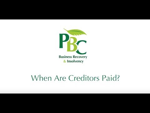When are Creditors Paid?