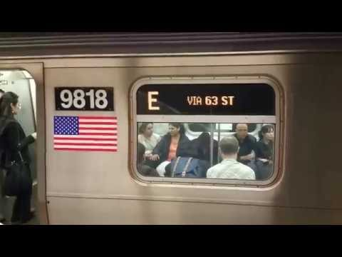 E train stuck at F train station 30m below sea level JFK Air Train run