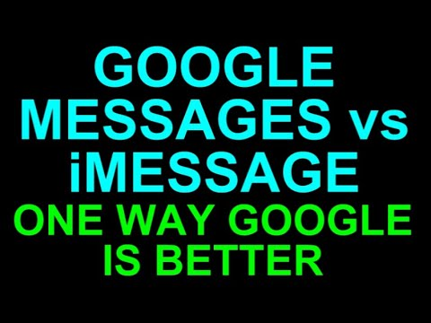 One Way Google Messages BEATS IMessage - Android Vs IPhone Texting