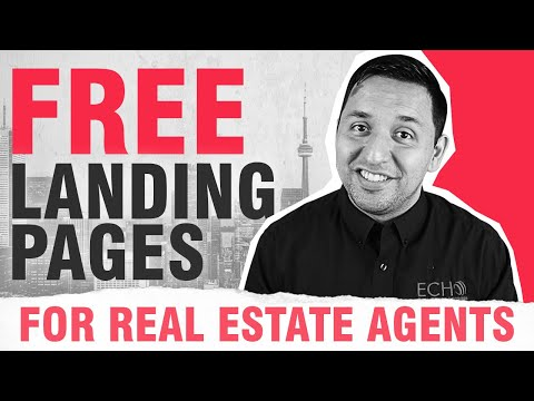 Free Landing Pages - Real Estate Agents
