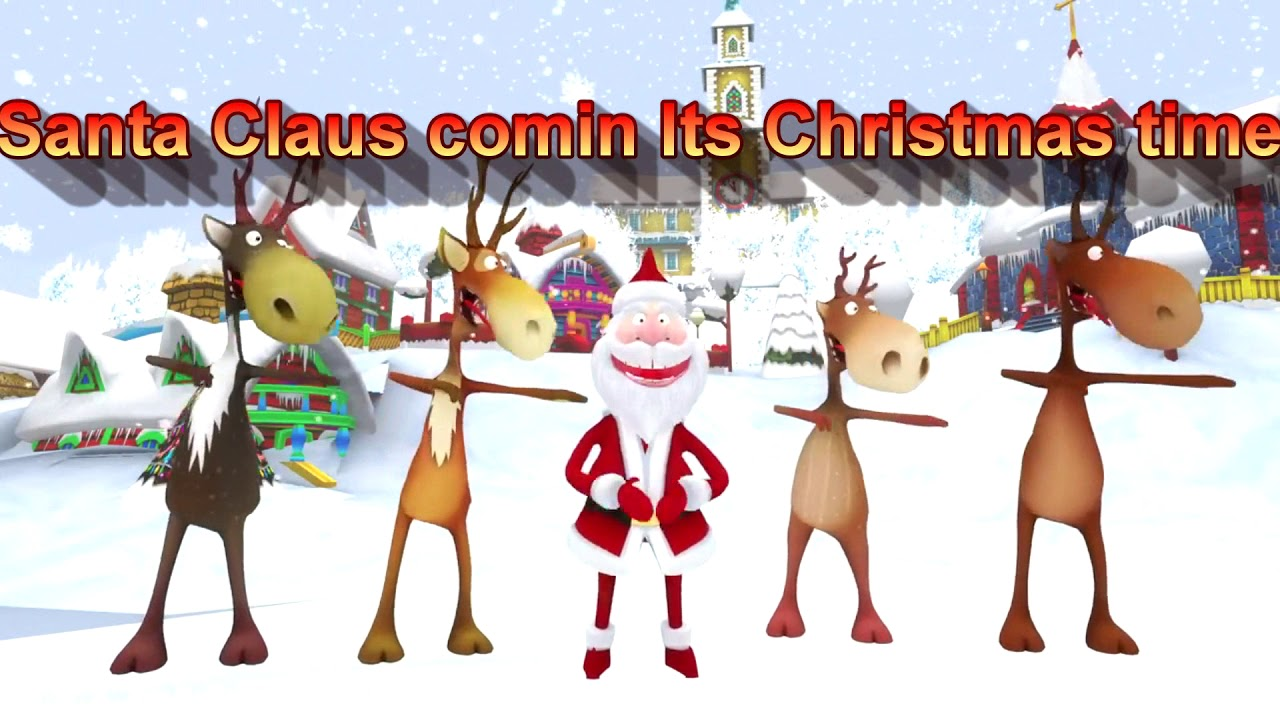 Santa Claus Comin It's Christmas Time ( Lyrics- Children Version ...