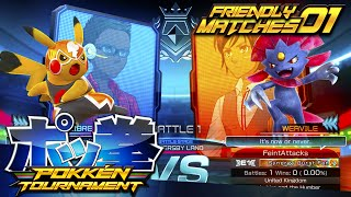 WEAVILE IS SO STRONG! | Pokken Tournament 'Friendly Matches' - Episode #1