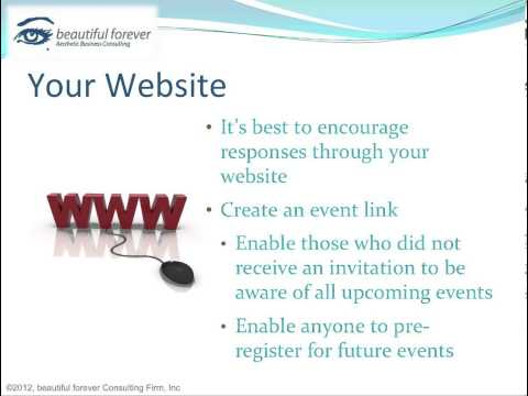 Aesthetic Business - Planning a Successful Event-Part 11 - Advertise on Your Website
