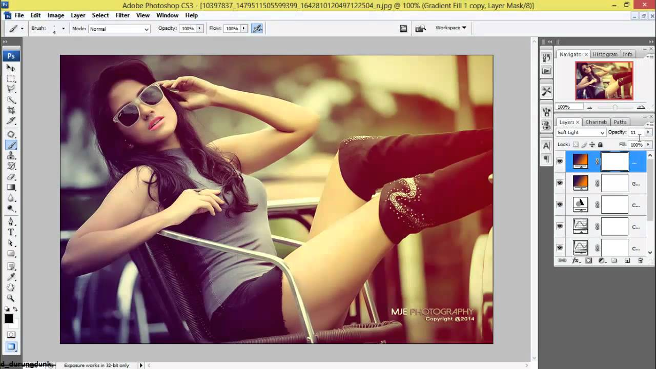 Photoshop retouching in color effects photoshop cs3 tutorial youtube.