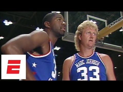 Magic Johnson, Larry Bird, Charles Barkley and more from 1986 charity game [rare footage] | ESPN