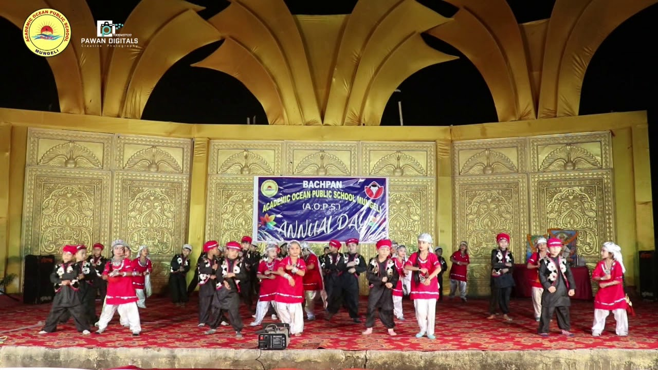 Bachpan (AOPS) annual day 2020 UKG 'A' Kasmiri theme DANCE remix song Mungeli