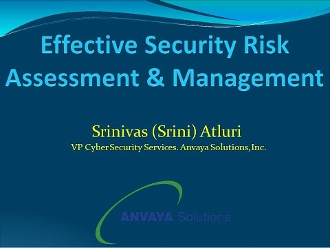 CSS2016D2S8: Effective Risk Assessment and Management - Anvaya