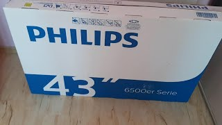 Unboxinh Philips Smart TV 43 Inch 6500 Er Series 4K UHD