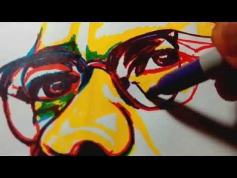 Malcom X  Spontaneous realism drawing inspired art.