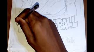 Speed drawing: Goku black