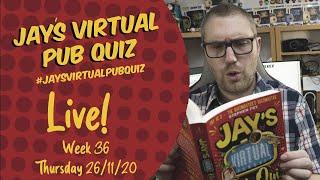 Virtual Pub Quiz, Live! Thursday 26th November