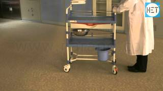 dressing trolley abs with epoxy coated finish frame item code hf2268a
