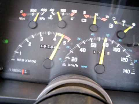 91 TBI GM Truck Instrument Panel