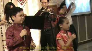 新年歌-迎春花 Young violinists from SJSE sing Chinese New Year song ( Malaysia )