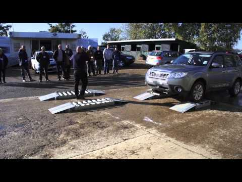 Live demonstration of Subaru Forester and Outbacks 4x4 symmetrical all wheel drive system.mp4