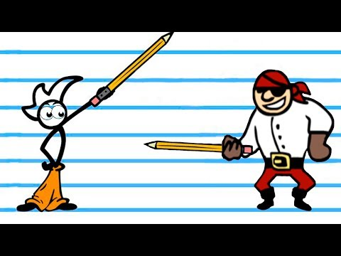 Суровый НАРИСОВАННЫЙ ЧЕЛОВЕЧЕК нашел карандаш в игра Fancy Pants
