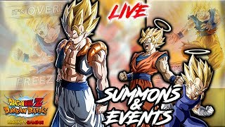 GIVING AWAY A PS4 AT THE END OF STREAM!! | LIVE SUMMONS & EVENTS  | DRAGON BALL Z DOKKAN BATTLE