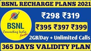 #BSNL 4G Prepaid Recharge Plans & Offers List 2021 | BSNL New Best Plans Unlimited Calling & 4G Data